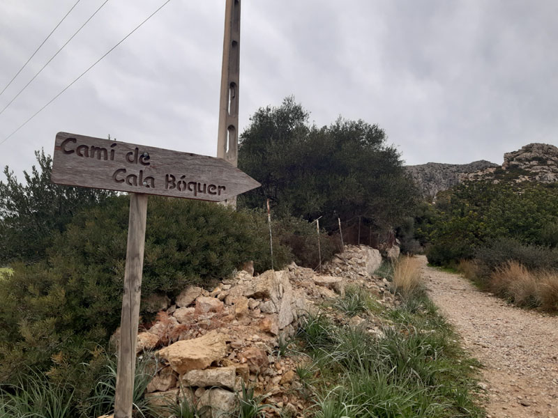 Inizio del camino per Cala Bóquer - Maiorca