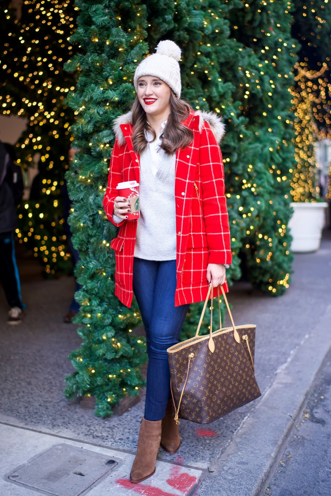 J. Crew Windowpane Chateau Parka