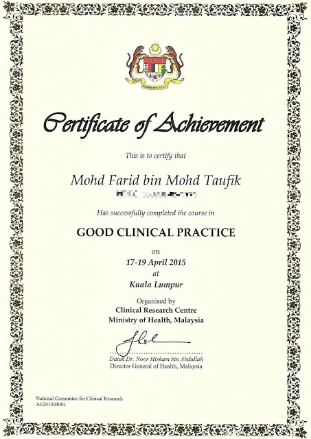 Cvt Mohd Farid Certificate No 34 Malaysia Book Of Records Most Number Of Certificates Received By An Individual Record Breaking Attempt