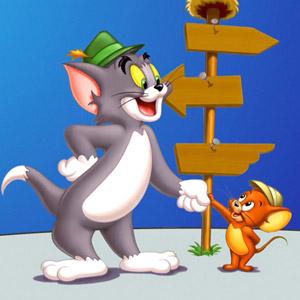 Dibujo de Tom y Jerry con sombreros