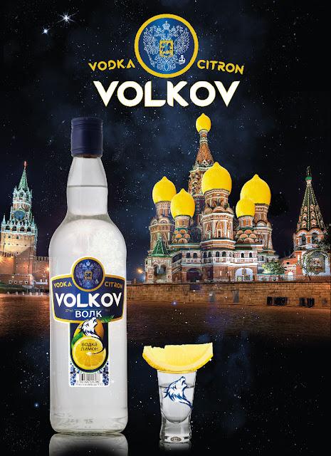 création de visuel pour décoration de stand Vodla Volkov