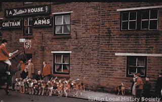 Holcombe Hunt Meet at Chetham Arms in Chapeltown (1958-9)