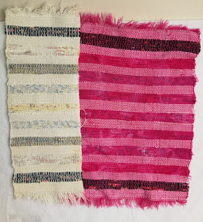 Over-dyeing hand-woven cotton placemats