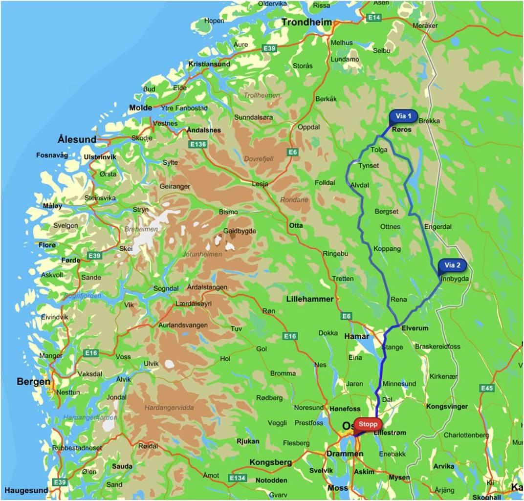 østerdalen kart Miriam & Martin østerdalen kart