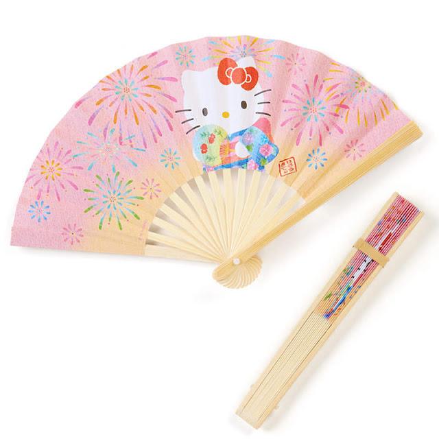 Hello Kitty Traditional Folding Bamboo Paper Fan