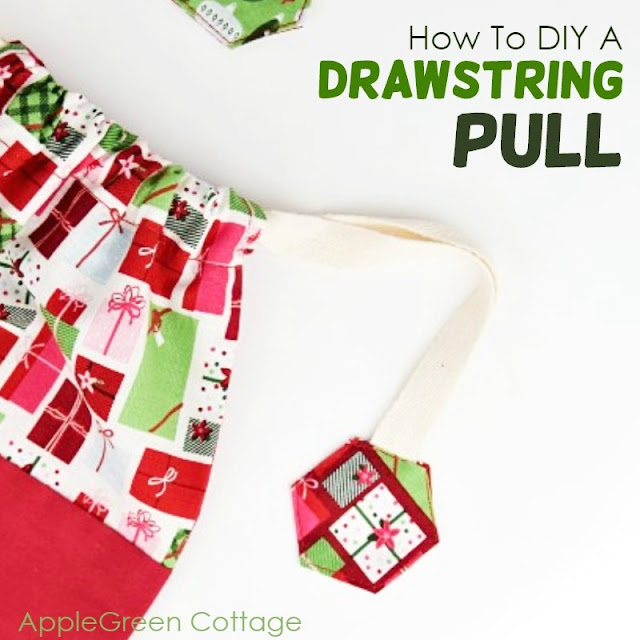 Sewing tutorial: Cute way to cover drawstring ends