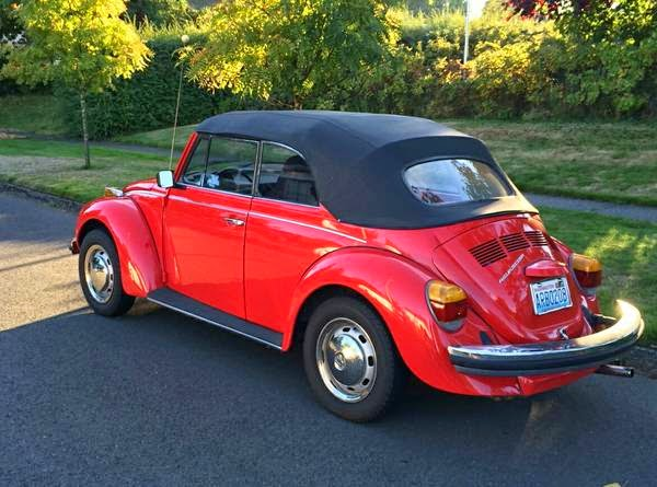 used 1975 classic super beetle convertible by owner. Black Bedroom Furniture Sets. Home Design Ideas