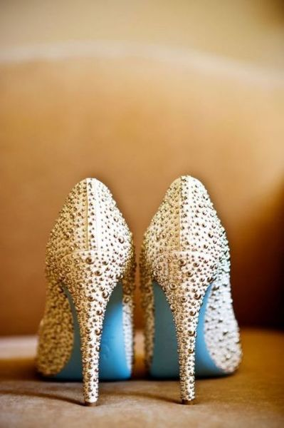 Limited Edition Louboutin Wedding Shoes With A Robin S Egg Blue Sole