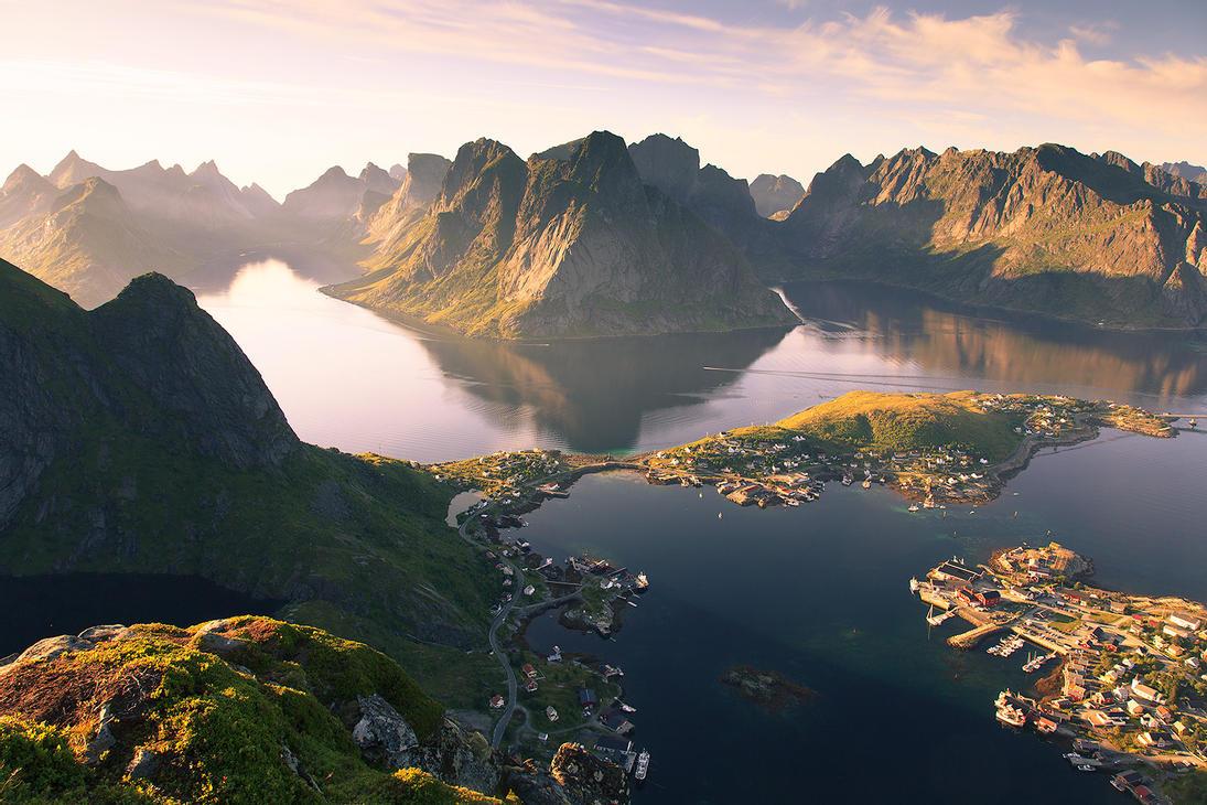 Рейне в Норвегии, вид сверху