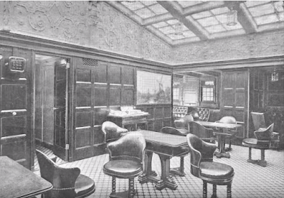 interior room of SS Kroonland Red Star Line
