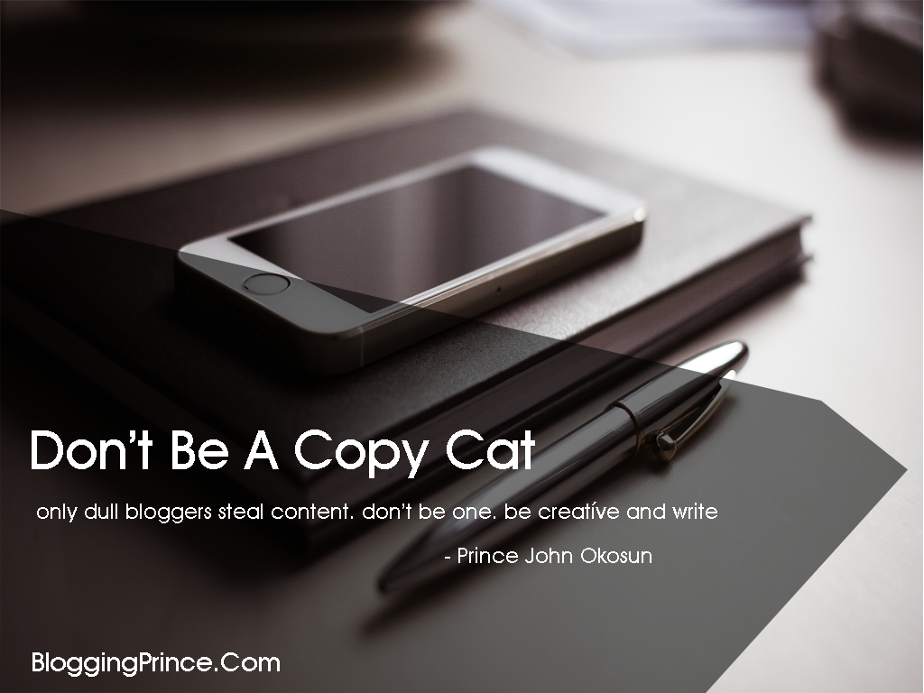 don't copy other bloggers