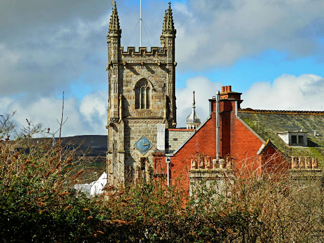 St.Austell church and town, Cornwall