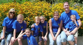 Annette Evertson with her ex-husband Shawn Bradley and their children