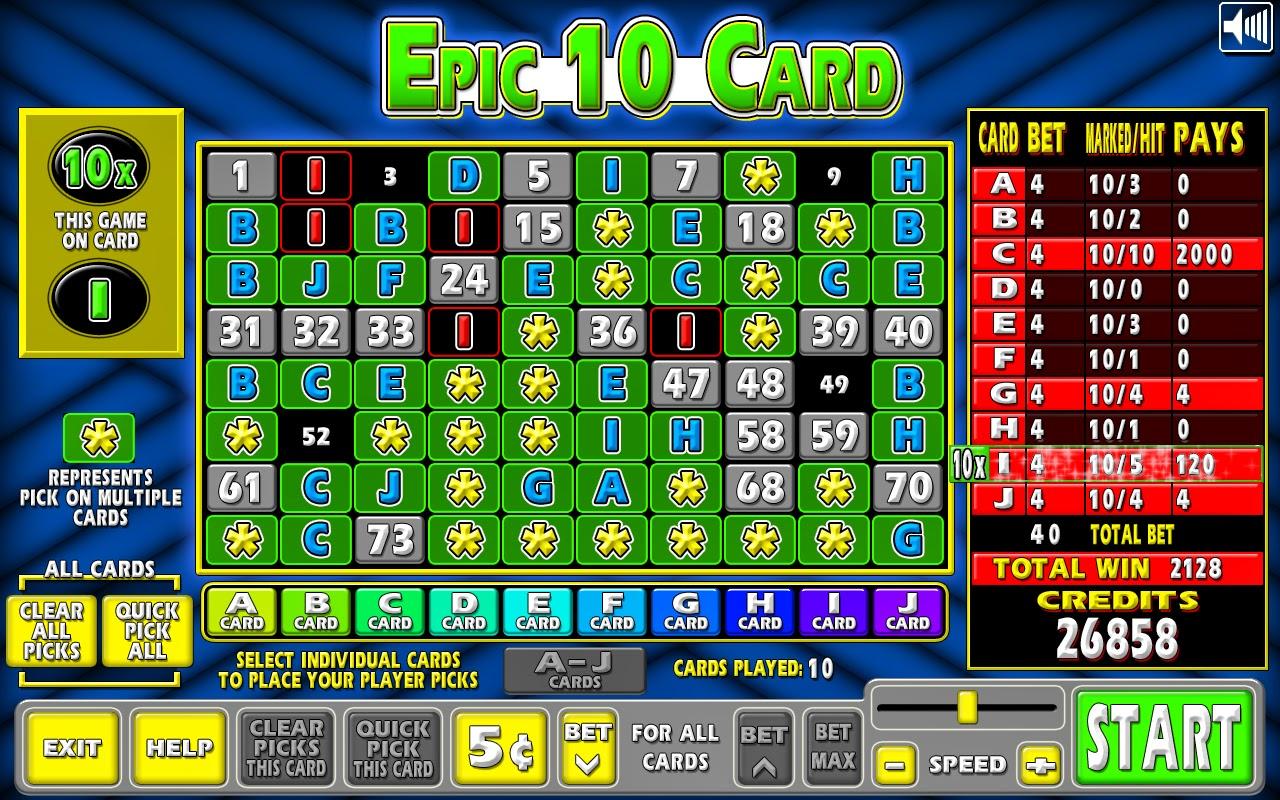 Keno game information : Tropicana hotel and casino las vegas