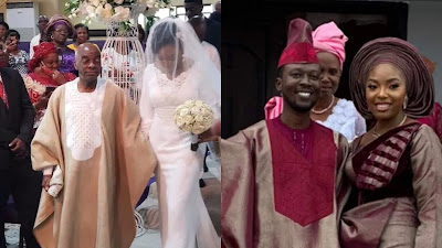 Bishop David Oyedepo's daughter Joy Priscilla today tied the nuptial knots with her heartthrob Abimbola Olaleye Abodunrin.