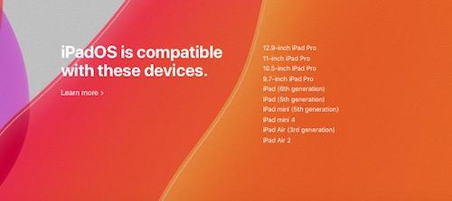 iPadOS 13 yang Mendukung iPad
