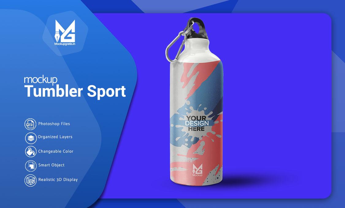 Mockup Tumbler Sport Gratis PSD File