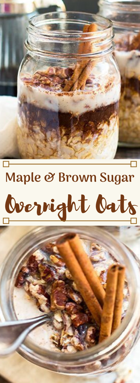 MAPLE BROWN SUGAR AND CINNAMON OVERNIGHT OATS #cinnamon #healthydiet #easy #recipes #food