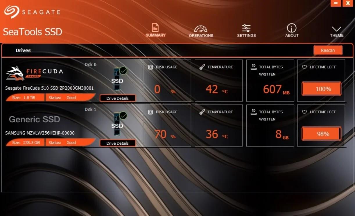 Seagate FireCuda 510 SSD SeaTools SSD