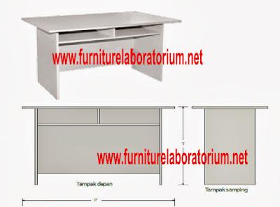 Meja Laboratorium Sekolah  Model LD-01