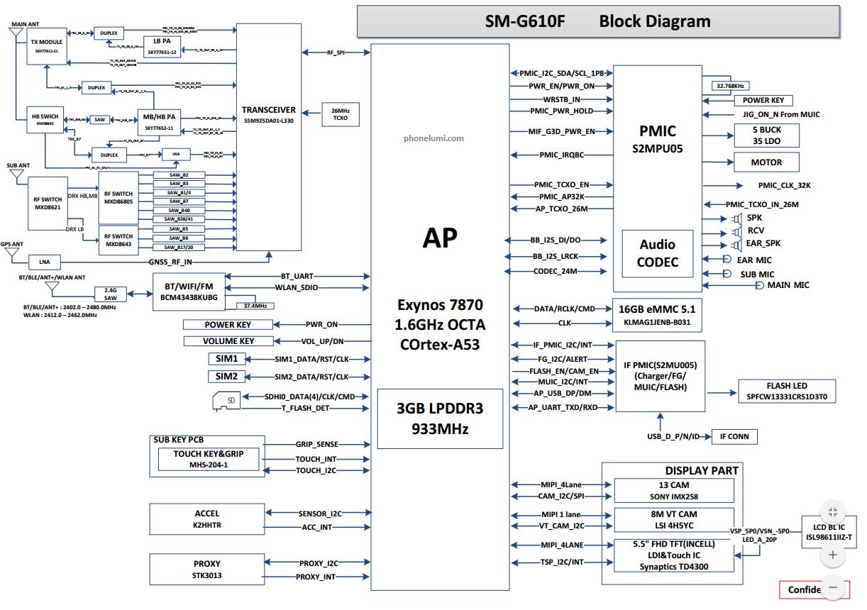 Samsung Sm-g610f Schametic Diagram