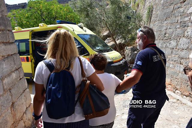 Τραυματισμός τουρίστριας στο Παλαμήδι