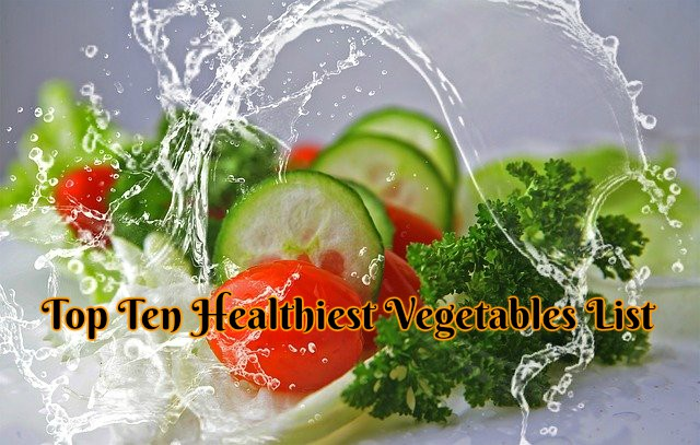 Top Ten Healthiest Vegetables List