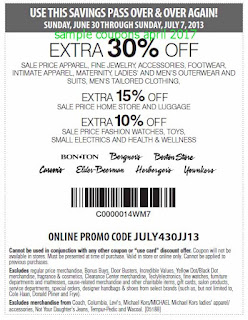 Carson Pirie Scott coupons april 2017