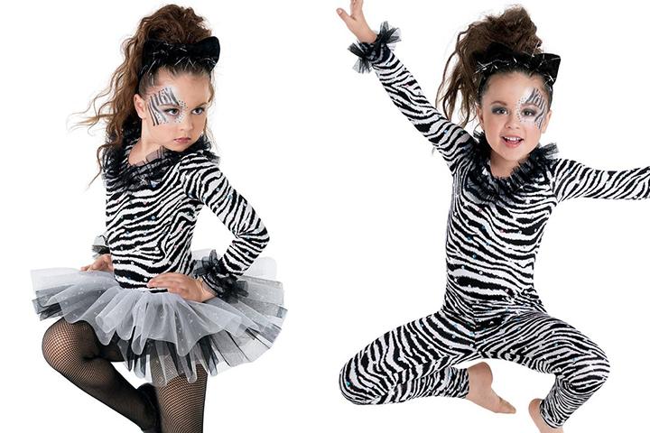 новогодний костюм зебры