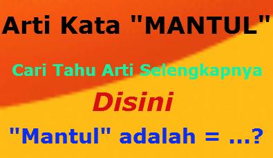 Arti Kata MantuL