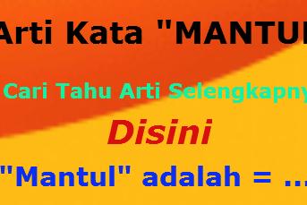 """Simak Arti Kata """"MantuL"""" yang Masuk Bahasa Gaul Zaman Now"""