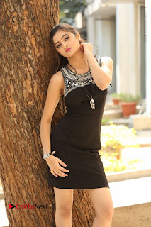 Actress Poojitha Pallavi Naidu Stills in Black Short Dress at Inkenti Nuvve Cheppu Movie Platinum Disc Function  0051.JPG