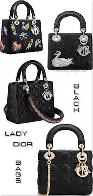 ♦Dior Lady Dior Black Bag Collection 2016 #bags #dior #ladydior #brilliantluxury
