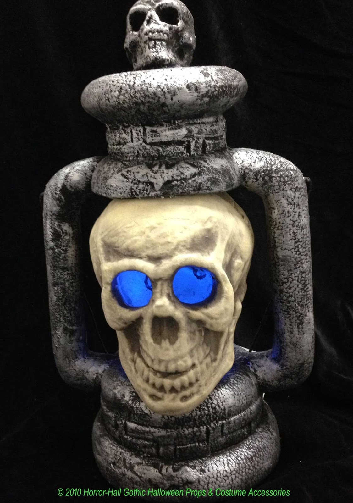 Halloween Scary GIANT LIGHTED SKULL w-SPOOKY SOUND Halloween Haunted