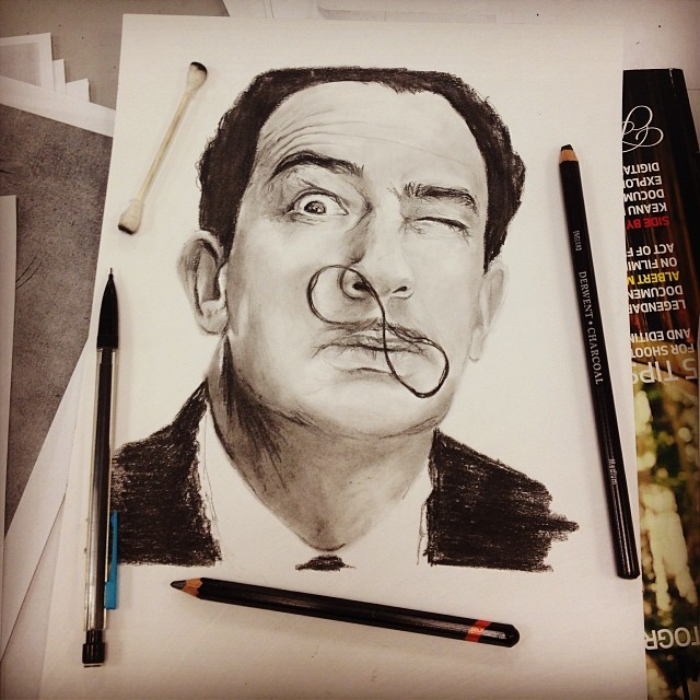 07-Salvador-Dali-Natasha-Farnsworth-Drawings-and-Paintings-Celebrity-Portraits-www-designstack-co