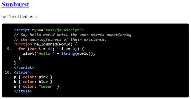 google-code-prettify-demo-網頁使用程式碼高亮的最佳作法及推薦外掛