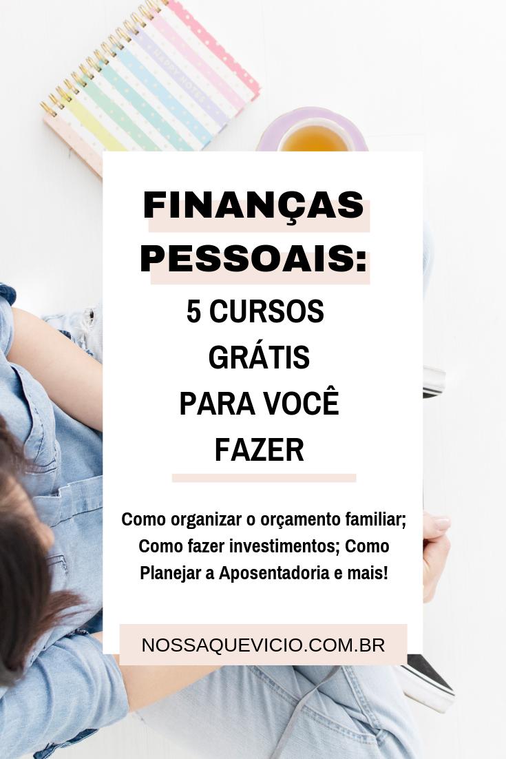 5 CURSOS DE FINANÇAS PESSOAIS