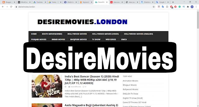 Desiremovies 2020 - BollyWood, HollyWood, 480p, 720p, 30MB HD Movies Download