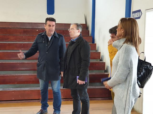 Επίσκεψη του Γενικού Γραμματέα Αθλητισμού Γιώργου Μαυρωτά στις αθλητικές εγκαταστάσεις του Δήμου Ναυπλιέων