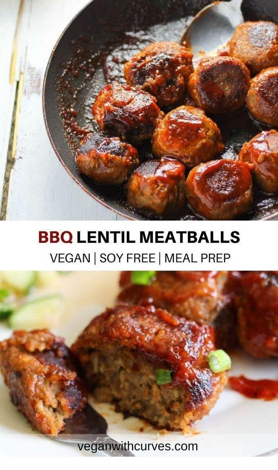 BBQ Lentil Meatballs