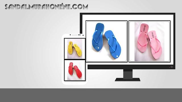 Sandal Jepit Cewe Polos WHY Termurah