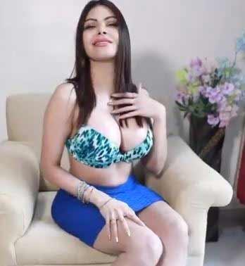 sherlyn-chopra-in-blue-hot-dress