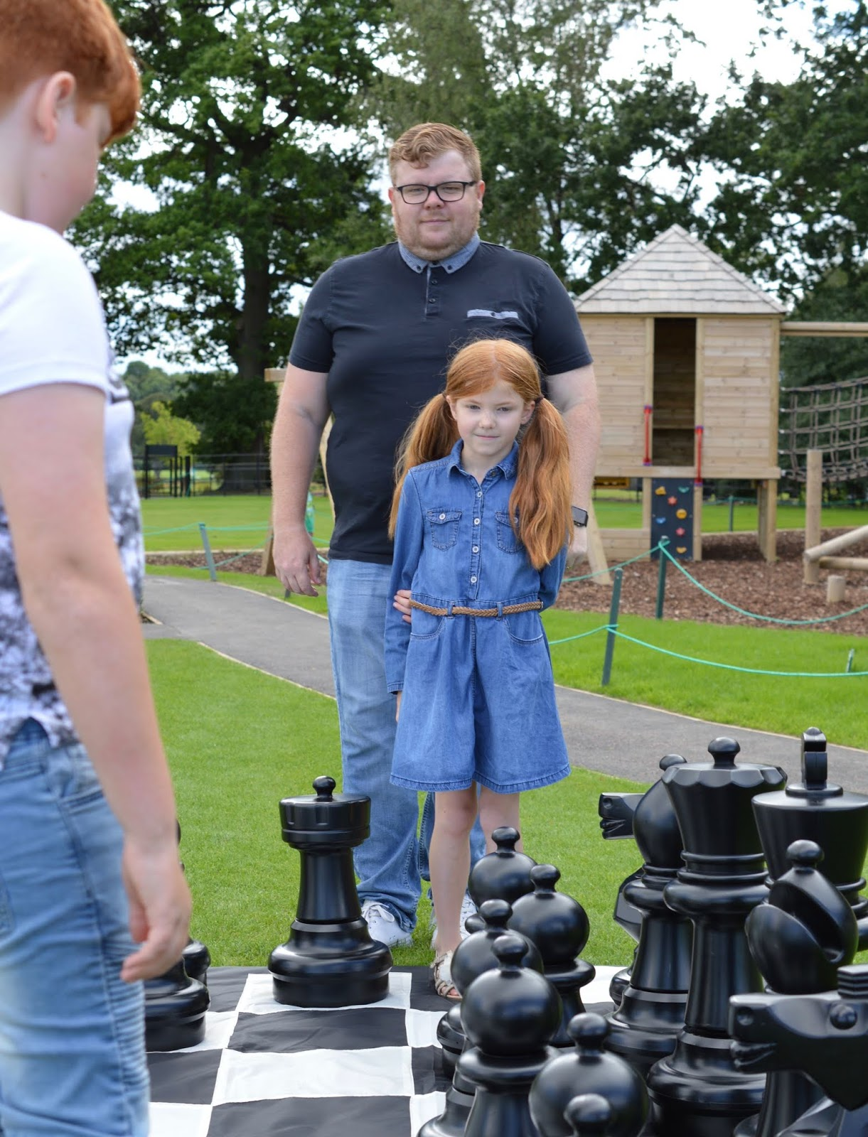 A Luxury Family Staycation at Rockliffe Hall Hotel  - outdoor chess set