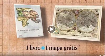 """Coleção """"Folha o mundo pelos Mapas Antigos"""" na Banca Vanildo"""