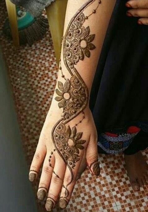 new latest arabic mehndi design