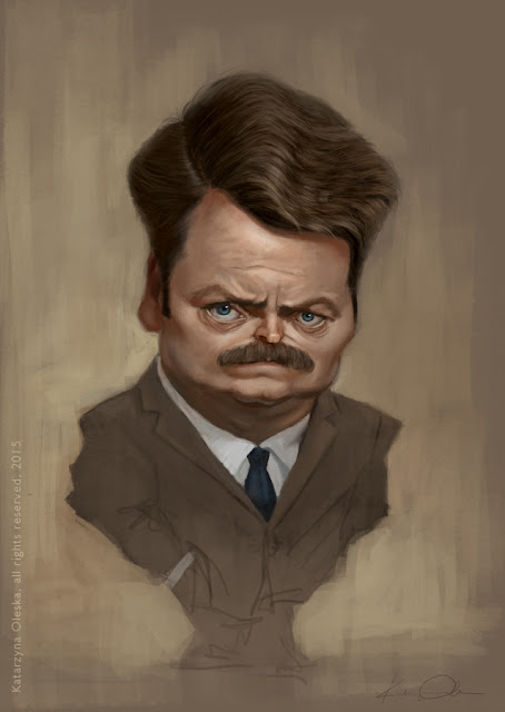 Nick Offerman caricature