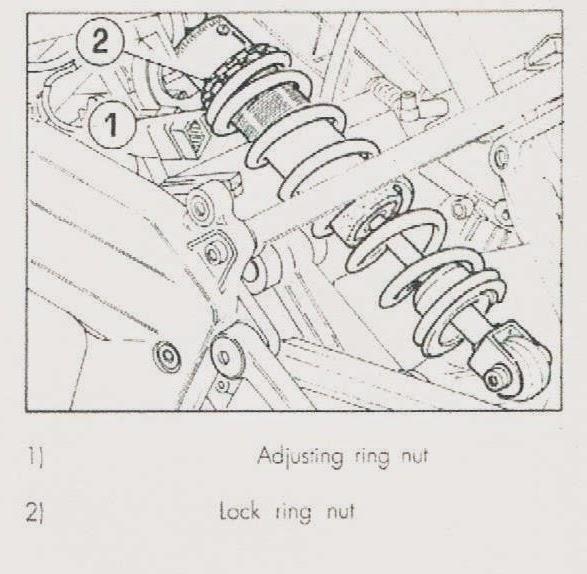 CAGIVA MITO 125 : Cagiva mito shock , damper adjustment