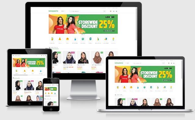 Template Blogger Kusus Jualan Online TokoPedia Terbaru