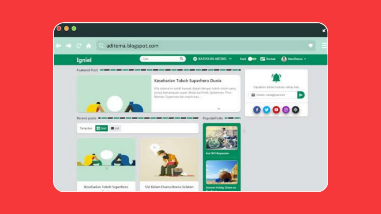 IGniel Template Responsive Blogger Template [Premium]