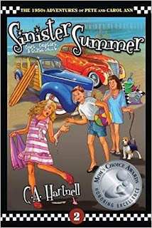 Sinister Summer: Cars, Cruisers, and Close Calls - a Children's Historical Fiction book promotion C.A. Hartnell